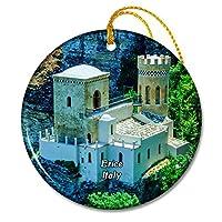 イタリアEriceLite Slott Siciliaクリスマスオーナメントセラミックシート旅行お土産ギフト