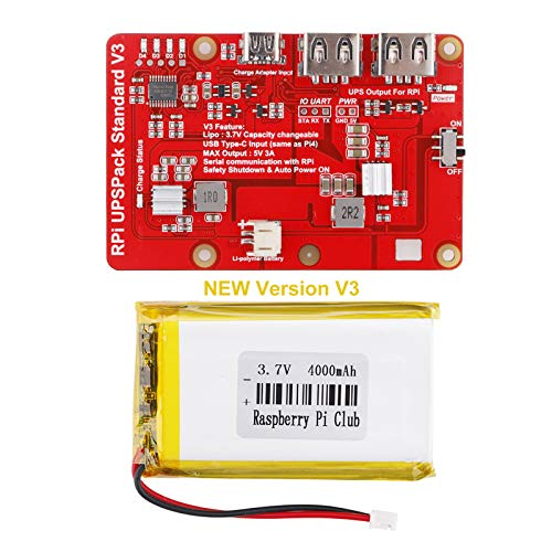 of raspberry pis dec 2021 theres one clear winner MakerFocus Raspberry Pi 4 Battery Pack UPS, RPI Pack Standard(Raspberry Pi Battery, USB Battery Pack Raspberry Pi,) Latest Version V3 Expansion Board Power Supply Type-C for Raspberry 4B 3B+, 3B 2B+