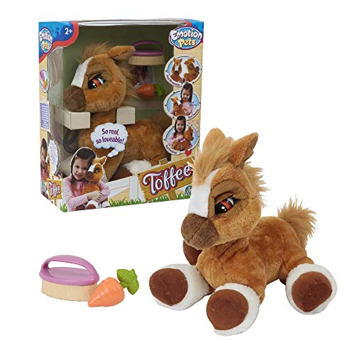 Emotion Pets MTM03010 Toffee 36cm Soft Toys, Multicolour