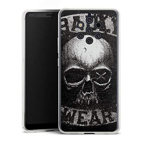 DeinDesign Coque en Silicone Compatible avec Nokia 9 PureView Étui Silicone Coque Souple Têtes de Mort Rock 'n' Roll Jupe