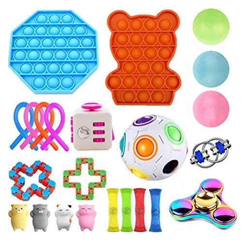 CaCaCook Fidget Spielzeug Set, 23 Stück für Stressabbau und Anti-Angst für Kinder und Erwachsene ADD ADHS, Anti Stress Spielzeug Set, Autism Sensory Toys,Stressbälle für Erwachsene und Kinder
