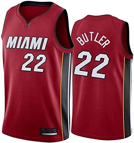 ALXLX NBA Miami Heat 22# Men's Women Jersey - Butler Jerseys Transpirable Baloncesto Baloncesto Swingman Jersey, Red - M