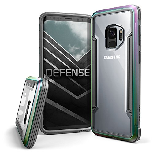 Raptic Shield, Samsung Galaxy S9 (Formerly Defense Shield) - Military Grade Drop Tested, Anodized Aluminum, TPU, and Polycarbonate Protective Case, Samsung Galaxy S9, Iridescent