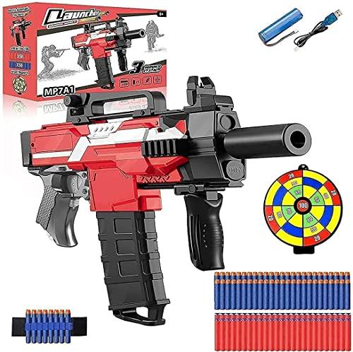 Gullivery Pistola a Proiettile Morbido sicura e innocua, Pistola Giocattolo elettrica a Proiettile Morbido, Pistola elettrica a 120 dardi, Pistola a Proiettile Morbido (Batteria Ricaricabile)