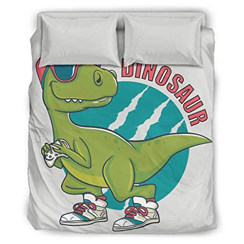 Bedspread Comforter Boy Dinosaur Bed Sheets KitsHome European Style Gray Colour Double Bed White Cal King
