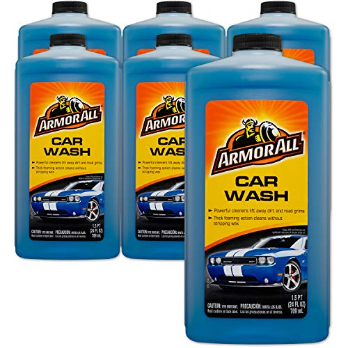 Armor All Foam Action Car Wash  Cleaning Concentrate for Cars amp Truck amp Motorcycle 24 Fl Oz Bottles  Pack of 6 25024