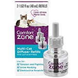 Comfort Zone Multi-Cat Diffuser Refill 2 Pack For Cats & Kittens Natural Calming