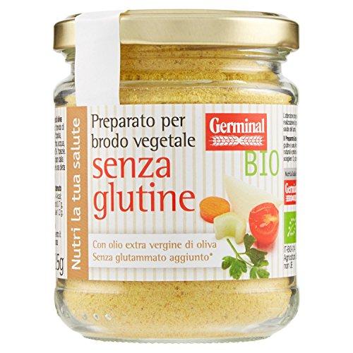 Germinal Bio Preparato per Brodo Vegetale Granulare Senza Glutine - 125 gr