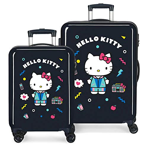 Castle of Hello Kitty Hartschalenkoffer, 55-68 cm, Marineblau