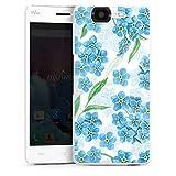 DeinDesign Hard Hülle kompatibel mit Wiko Highway Schutzhülle weiß Smartphone Backcover Malerei Pfingstrose Blumen