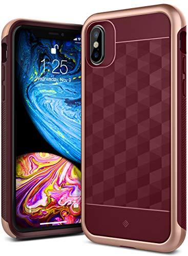 Caseology Parallax for iPhone Xs Case (2018) / iPhone X Case (2017) - Award Winning Design - Burgundy