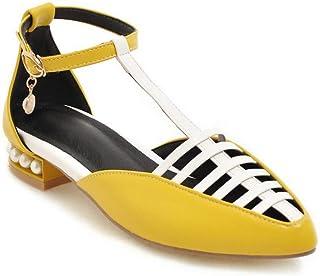 BalaMasa Womens APL11718 Pu Block Heels
