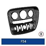 YGTY F54 Interruptor Coche Interior del Centro del Panel De Audio del Panel Ajuste del Acondicionador De Aire De Fibra De Carbono Shell para BMW Mini Cooper Coche Interior De Cubierta (Color : Si)