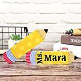 What you will get: you will receive 2 pieces of blank wooden pencil teacher plates, 1 piece of letters and numbers alphabet template and 1 piece of maker pen, which are enough for your DIY application, allowing you and your friends to have a joyful t...