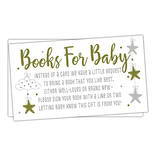 50 Twinkle Little Star Books for Baby Shower Request Cards - Invitation Inserts