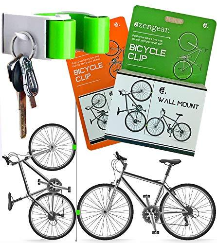 Gancho De Montaje En Pared Para Bicicleta - Clip de Montaje - Colgador Para Portabicicletas - Gancho Pequeño - Fácil de Instalar (Carretera/Híbrido/MTB Neumático)