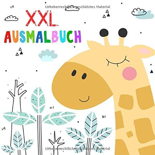 Kinder Ausmalbuch ab 2 Jahre: XXL Kritzelmalbuch mit tollen Motiven zum Ausmalen und Kritzeln für kreative Mädchen und Jungen