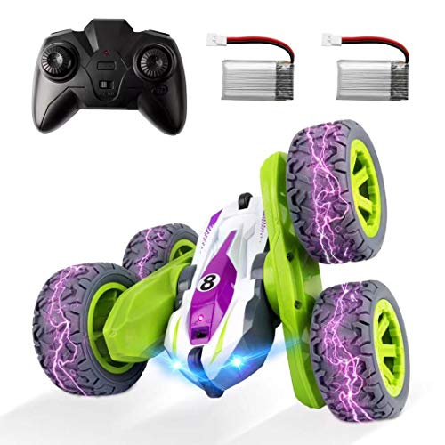 Remote Control Car, ADDSMILE RC Cars Stunt Car Toy Double Sided 360° Rotation with Headlights 2.4Ghz 4WD Electric Toy Car Gift for Kids Boys Girls (All Batteries Included)
