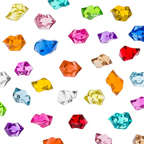 Super Z Outlet Acrylic Color Ice Rock Crystals Treasure Gems for Table Scatters, Vase Fillers, Event, Wedding, Arts & Crafts, Birthday Decoration Favor (190 Pieces) (Assorted)