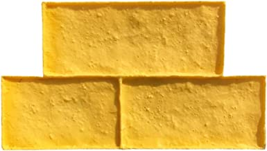 Old Castle Block Vertical Concrete Stamps by Walttools for Walls, Fireplaces, Hardscapes, Seatwalls, etc. Sturdy Tools With Realistic Detail and Natural Texture (Single)