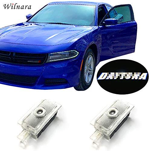 WILNARA Car LED Logo Light Dodge Projector Ghost Shadow Charger 2 Pack OEM Courtesy Light for Dodge Charger SRT Hellcat GT R/T Daytona Scat Pack-No1