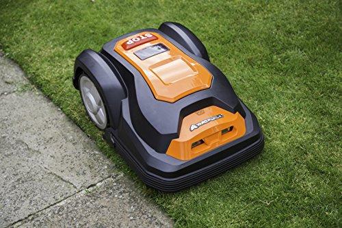 YardForce SA600H Mähroboter - Selbstfahrender Rasenmäher Roboter mit Begrenzungsdraht & Touch Display - Akku Rasenroboter für bis zu 600m² Rasen & 50% Steigung - 7