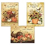 GIVE THANKS THIS HOLIDAY: Spread the spirit of blessing this year with our beautiful set of assorted greeting cards filled with inspirational messages GREAT FOR FESTIVE OCCASIONS: Our holiday cards are great for office parties, get togethers with fri...