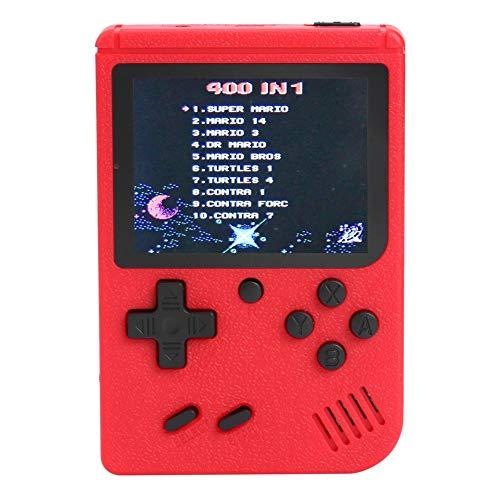 Yanten 3-Zoll-Handheld Retro Fc Game Console 400 Spiele 8-Bit-Game-Player (Rot)