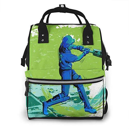 GXGZ Bolsa de pañales Mochila Bolsa de viaje Gran multifunción Impermeable Concepto de golpe Deportista Jugando Equipo Cricket Recreación deportiva Bolsa de pañales elegante y duradera para el cuidado