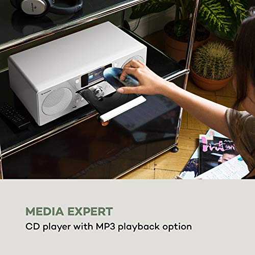 auna Harvard IR Kompaktanlage - Internet-/DAB+ und UKW-Radio, CD-Player, Spotify Connect, Bluetooth, 2,4