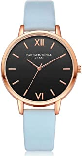 Casual Wristwatch, Women Fresh PU Strap Alloy Case Simple Round Fashion PU Quartz Casual Dress Bracelet Watch