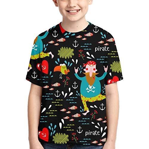 Camiseta de pirata para niños multicolor.