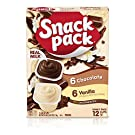 Snack Pack Chocolate & Vanilla Pudding Cups Family Pack, 12Count, 6 Pack