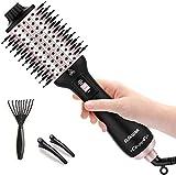 Haartrockner 2020 Warmluftbürste Hair Dryer Volumizer Styler 5 in 1 Föhnbürste Heißluftbürste Negativer Ionen Stylingbürste Bürste Heißluftkamm Volumenbürste Für Alle Styling