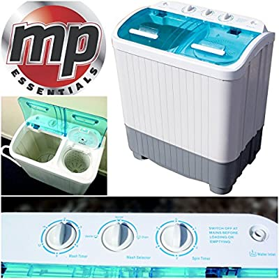 MP Essentials Portable Camping Caravan Travel Whirlpool 3.5kg Washing Machine & 2.5kg Spin Dryer Drying