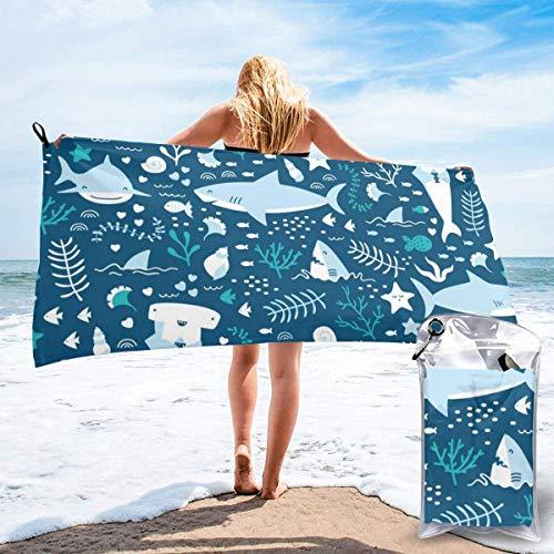 Badtextilien Frottiertücher Strandtücher Quick Dry Beach Towel Old Fashioned Comics Inspired Artwork Retro Fictional Effects Cartoon Motifs Microfiber-Sand Free-Lightweight Thin Bath Towels-27.5