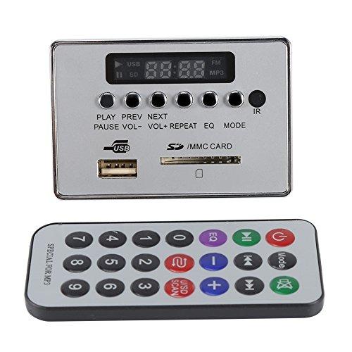 DC12V Bluetooth Audio Decodificatore Board Modulo Audio USB SD TF FM Radio Decodificatore WMA/WAV / MP3 Senza Perdita(Argento)