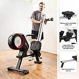 SportPlus Rudergerät für zuhause, klappbar, Rudermaschine mit Magnet- oder Turbinenbremssystem, kugelgelagerter Rudersitz, brustgurtkompatibel, Trainingscomputer, Rowing Machine, Sicherheit geprüft - 5