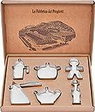 Alessi ACOOKIESET Progiotti Set di 6 Tagliabiscotti, per Biscotti, in Acciaio Inossidabile 18/10...