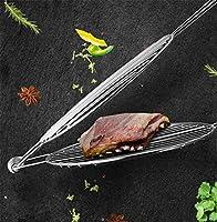 MZXUN バーベキューグリルバスケット、焼き魚クリップステンレス鋼肉のグリルロースト魚ネットグリルIngreラウンド家族商業大ラック