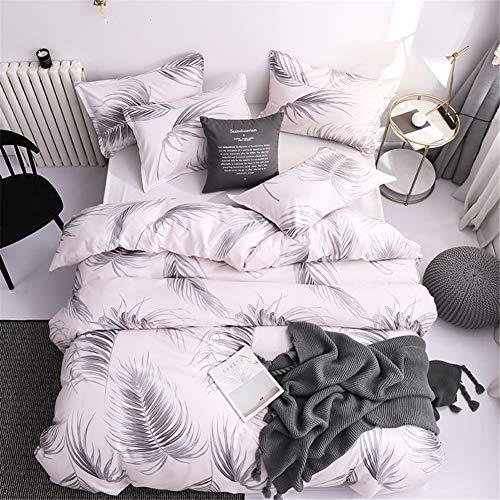 ARTGHJL Ropa de cama de poliéster, funda nórdica con cremallera, 135 x 200 cm, no encoge, no se deforma, sin bolas (135 x 200 cm)