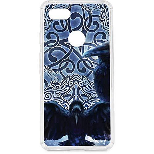 Skinit Clear Phone Case Compatible with Google Pixel 3 XL - Originally Designed Celtic Raven Design