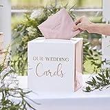 Geld-Box Brief-Box Hochzeits-Post OUR WEDDING CARDS weiß &