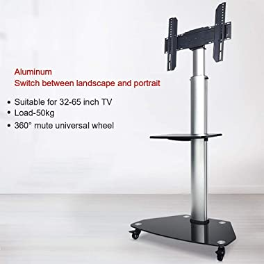 Tv Stand Mobile TV Cart for 32-65 Inches Plasma LCD LED Screen, Horizontal and Vertical Screen Can Be Rotated, Tv Stand Mount