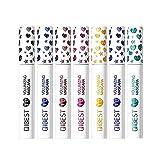 Bellesky Colored Mascara 7 Pack Waterproof and Smudgeproof Longlasting Mascara Cruelty Free & Vegan Volume Mascara (7 Colors Set B)