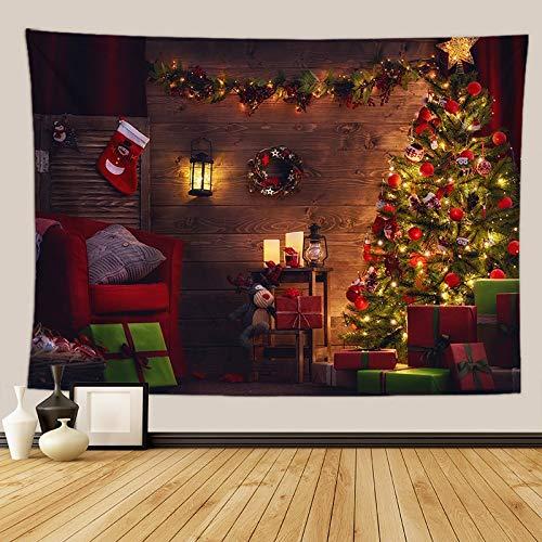 KHKJ Tapiz de Pared de árbol psicodélico Tapiz de Chimenea decoración de Navidad Manta de Pared de Cocina Manta Alfombra A1 200x150cm
