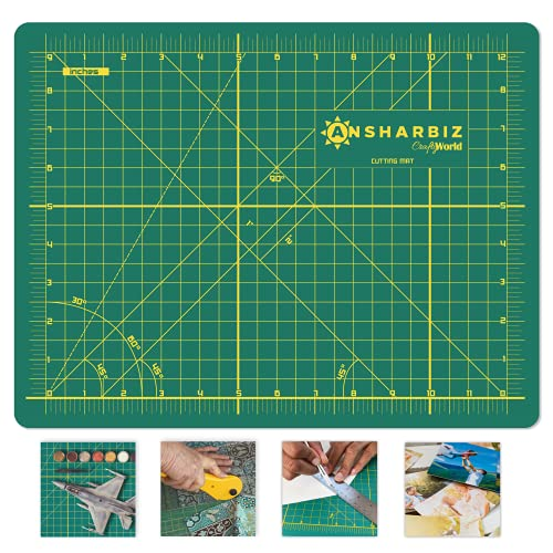 Cutting Mat for Sewing & Crafts - 9x12inches, Sturdy Rotary Cutting Mat w/ Self Healing, Non Slip Surface - Perfect Craft, Fabric Cutting Board for Quilting & Sewing - Large Double Sided Mats