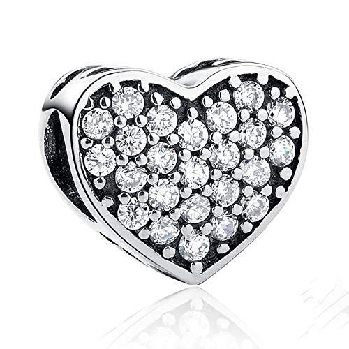 LILIANG Charm Jewelry Regalo De San Valentín Real 100% Plata De Ley 925 Forever Friends Heart Charm Fit Pulsera Original Joyería Auténtica
