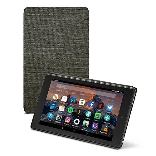 Amazon - Étui pour Fire HD 8 (tablette 8 pouces, 7ème et 8ème générations, 2017 et 2018), Noir