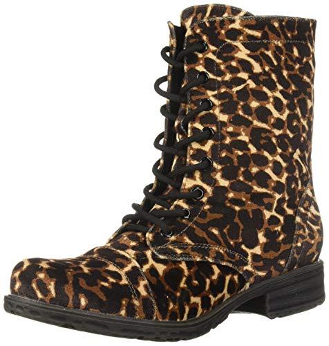 Volatile Damen UNDERGROUND Springerstiefel, Schwarz Leopard, 37 EU